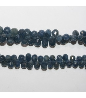 Sapphire Graduated Faceted Drop 5-8mm.Approx.- Strand 20cm.- Item.11889