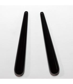 Onyx Half Drilled Smooth Drop 60x8mm. (1 Pair).- Item.11938