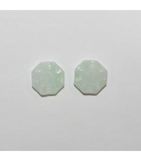 Burma Jade Carved Pendant 13mm.( 2 Pieces)-Item.1203JV