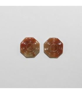 Burma Jade Carved Pendant 13mm.( 2 Pieces)-Item.1203JM