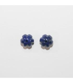 Lapis Lazuli Bead Ball Gallon Connector 9mm. (1 Pair).- Item.11940
