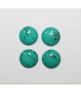 Turquoise Smooth Round Cabochon 20mm. (4 Pieces).- 1285CB