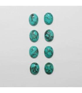 Turquoise Smooth Oval Cabochon 10x8mm. (8 Pieces).- Item.1288CB