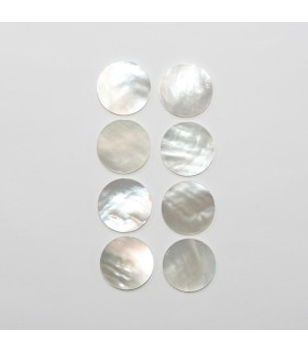 MOP Smooth Disc Cabochon 15mm. (8 Pieces).- Item.1289CB
