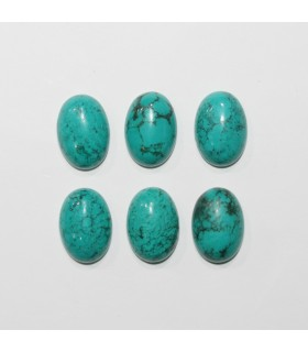 Turquoise Smooth Oval Cabochon 14x10mm. (6 Pieces).- Item.1293CB