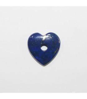 Lapis Lazuli Smooth Heart Pendant 20mm.- Item.11967