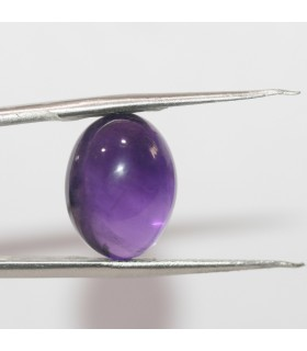 Amethyst Smooth Oval Cabochon 16x12mm. (12.98 ct.)- Item.241PE