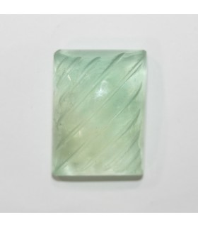 Green Fluorite Carved Rectangular Cabochon 23.5x17.5mm. (53.3 ct.).- Item.088PE