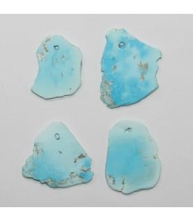 Turquoise Irregular Flat Pendant 27x23mm.Approx.- Item.11974