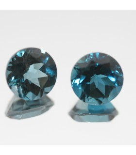 London Blue Topaz Faceted Round 8mm.( 5.2ct)- Item.68MG