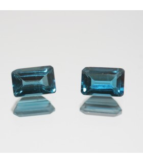 London Blue Topaz Faceted Octagonal 6x4mm.( 1.5ct)- Item.72MG