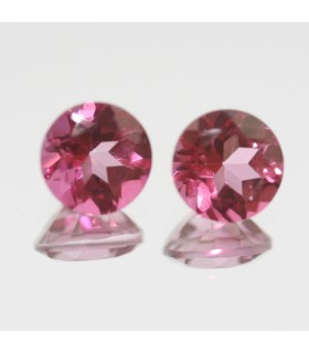 Pink Blue Topaz Faceted Round 6mm. (2 Pcs).- Item.77MG