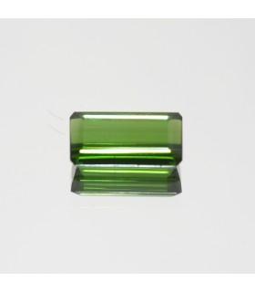 Green Turmaline Faceted Rectangular 12x6mm. (2.5ct.).- Item.122MG