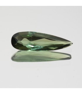 Green Turmaline Faceted Drop 13.5x4.3mm. (1.05ct.).- Item.124MG