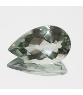 Green Amethyst Prasiolite Faceted Drop ( 7.6ct ) 18.5x11mm.-Ref.128MG