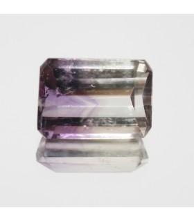 Bicolor Amethyst Faceted Rectangular 14x10mm. (9ct).- Item.130MG