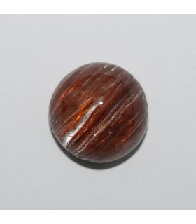 Rutilated Quartz Round Cabochon 12.6mm. (9ct).- Item136MG