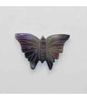 Purple Agate Carved Butterfly Pendant 16x26mm.Approx.- Item.11976