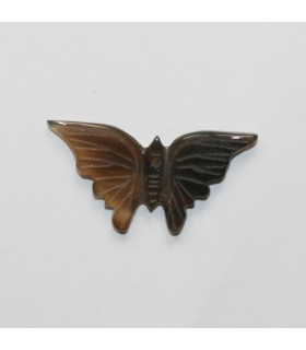 Brown Agate Carved Butterfly Pendant 16x26mm.Approx.- Item.11980
