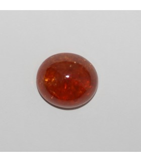 Spessartine Garnet Oval Cabochon 13x11.5mm (11.5ct.).-Item.158MG