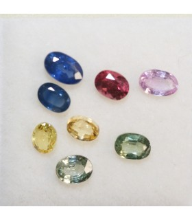 Lot Multicolor Sapphire Faceted Oval 4x3mm.-Item.177MG