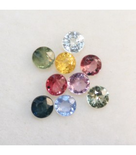 Lot Multicolor Sapphire Faceted Round 3mm.-Item.181MG