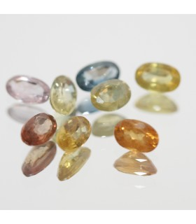 Lot Multicolor Sapphire Faceted Oval 5x3mm.-Item.183MG