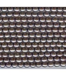 Perla Gris Arroz 6x5mm -Hilo 40cm- Ref. 1163