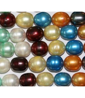 Perla Multicolor Oval 10x11mm -Hilo 40cm- Ref.3248