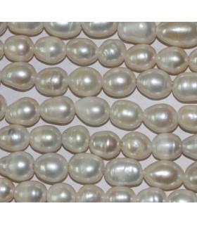 Perla Oval 10-11mm. ( Taladro 2.5mm. )-Hilo 40cm.-Ref.3498