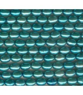 Perla Verde Arroz 7x5mm -Hilo 40cm- Ref. 1165