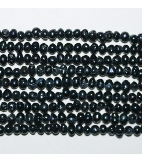 Perla Gris redonda Irregular 3mm.-Hilo 40cm.-Ref.8006
