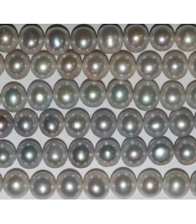 Perla Redodnda Gris Plata 11-12mm.-Hilo 40mm.-Ref.6844