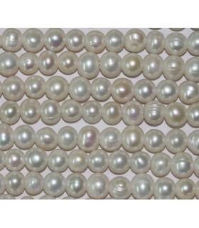 Perla Redonda 8-9mm. (Taladro 2.5mm.)-Hilo 37cm.-Ref.3857