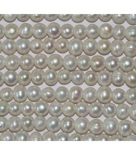 perla Rodaja 10-11mm.( Taladros 2.5mm. )-hilo 40cm.-Ref.3487