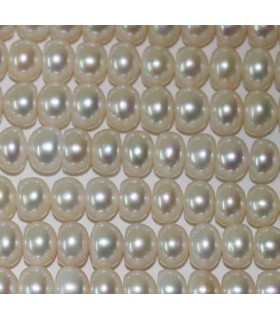 Button Pearl 8x5mm -Strand 36cm- Item.2969