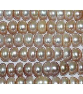 Perla Rodaja Rosa 10-11x6mm -Hilo 40cm- Ref.2974