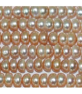 Perla Rodaja Salmón 10-11x6mm -Hilo 40cm- Ref.2975