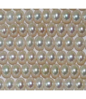 Button Pearl 7-8mm -Strand 36cm- Item.2970