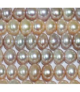 Perlas Rodaja Multicolor 12-13x8mm -Hilo 40cm- Ref.2973