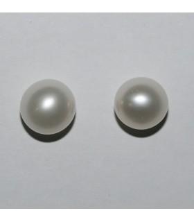 Perla Redonda Medio Taladro 8.5-9mm( 1 Par )Ref.8224