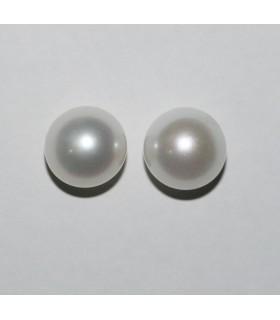 Perla Redonda Medio Taladro 10-10.5mm( 1 Par )Ref.8225