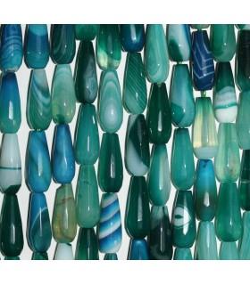 Agata Azul-Verde Gota Facetada 16x6mm.-Hilo 40cm.-Ref.8153