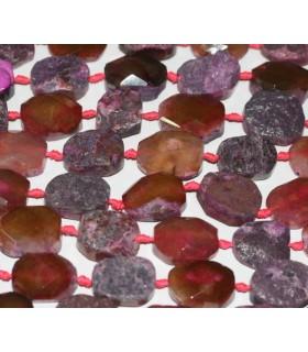 Agata Granate Con Facetas 32x23mm. Aprox.-Hilo 40cm.-Ref.5004