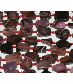 Agata Granate-Marron 24x20mm. Aprox.-Hilo 40cm.-Ref.5007