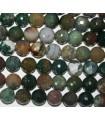 Boule à facettes en agate indienne 10 mm - Fil 40 cm - Réf.5934