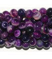 Boule lisse agate violette 10-11mm.-Fil 40cm.-Réf.4672