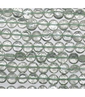 Amatista Verde Moneda Facetada 6-7mm.-Hilo 37cm.-Ref.1799