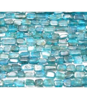 Apatito Azul Prisma Liso 5x4mm.-Hilo 37cm.-Ref.5130