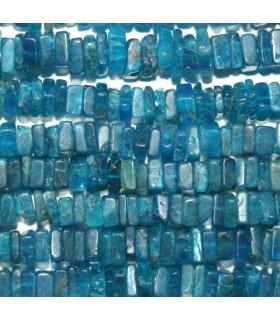 Apatito Azul Cuadrada Plana 5x2mm.-Hilo 40cm.-Ref.8358
